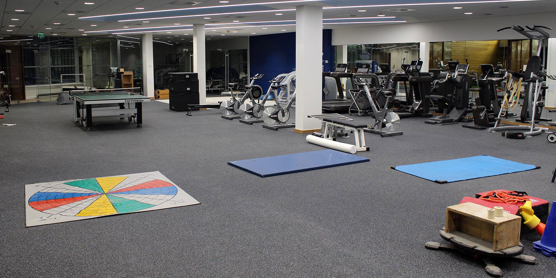 šprtne talne obloge fitnes dvorana