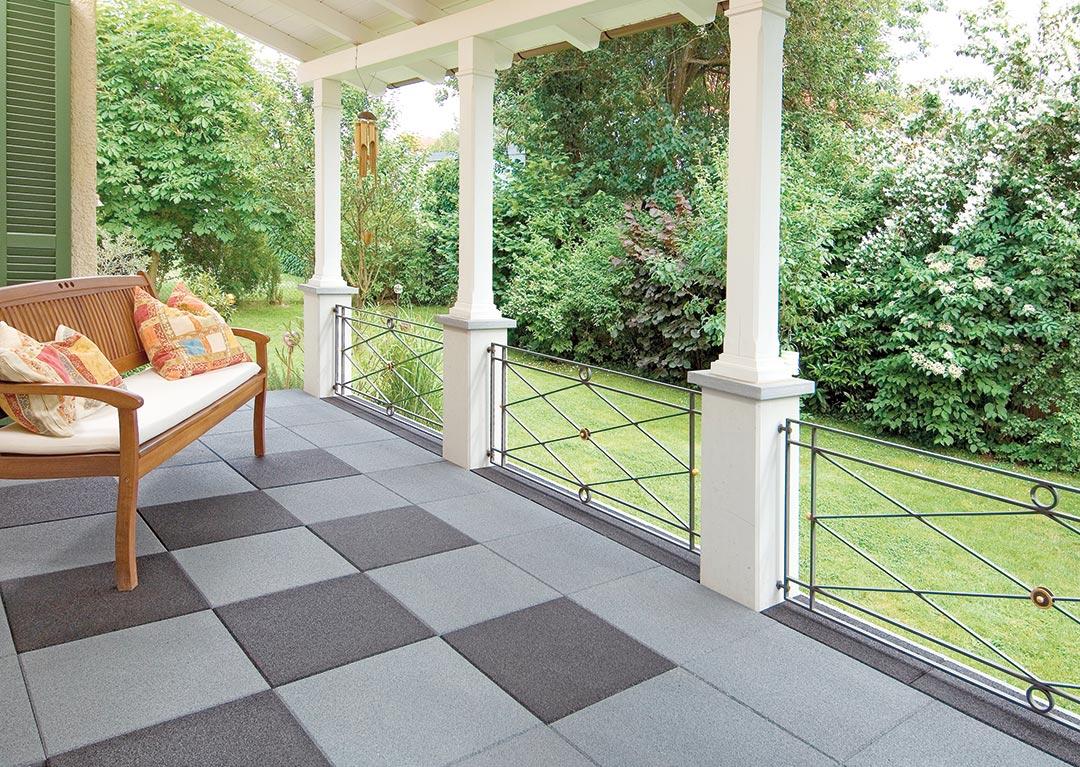 talna obloga za balkone, ravne terase